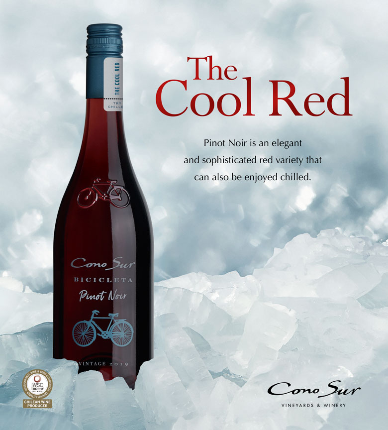 """The Cool Red"" Pinot Noir is an elegant and sophisticated red variety that can also be enjoyed chilled."